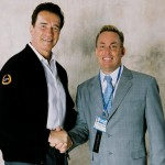 Dr. James Stoxen DC (right) with Arnold Schwarzenegger (left).