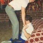 Ed Coan Stretching with Dr james Stoxen DC before a world championship