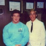 Ed Coan with Dr James Stoxen DC 1986