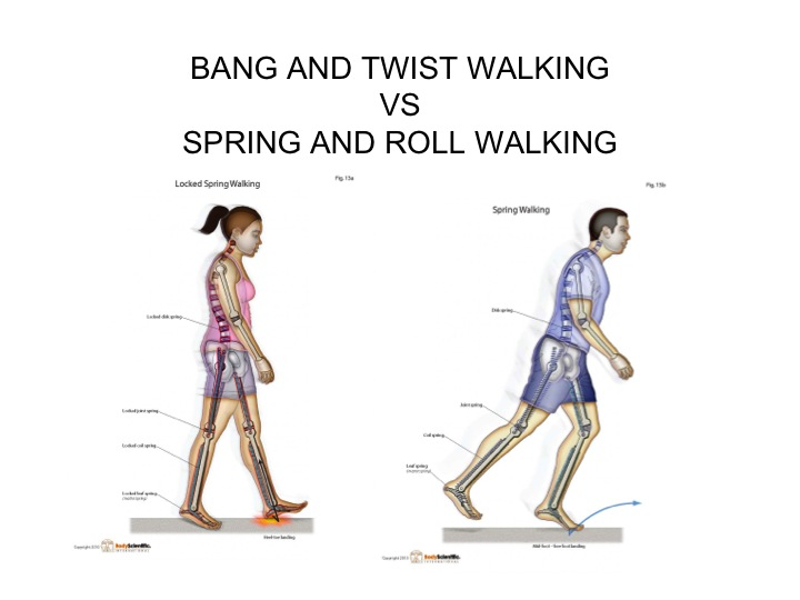 Bang and Twist Walking VS Spring Roll Walking