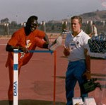 Dr James Stoxen DC at the 1988 All African Track and Field Championships