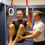 Anthony Field and Dr James Stoxen DC training backstage