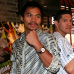 David Diaz (right) and Manny Pacquiao (left) (photo by Juan C Ayllon)