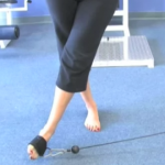 Cable hip adduction and foot inversion (finish)