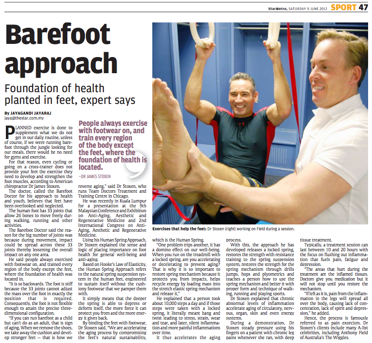 Article: Barefoot Approach, Foundation of Health Planted in Feet ...