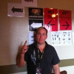 Dr Stoxen backstage at Mayhem Festival 2012