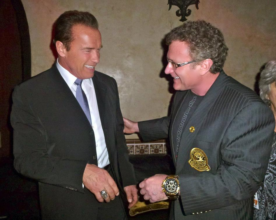 Governor Arnold Schwarzenegger and Dr Robert Goldman