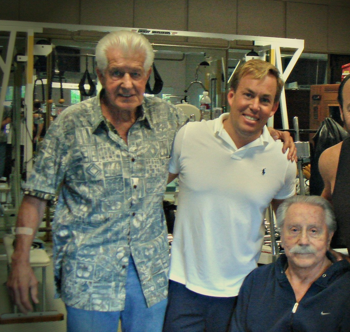 Dr Bob Delmonteque, Dr James Stoxen DC and Joe Weider