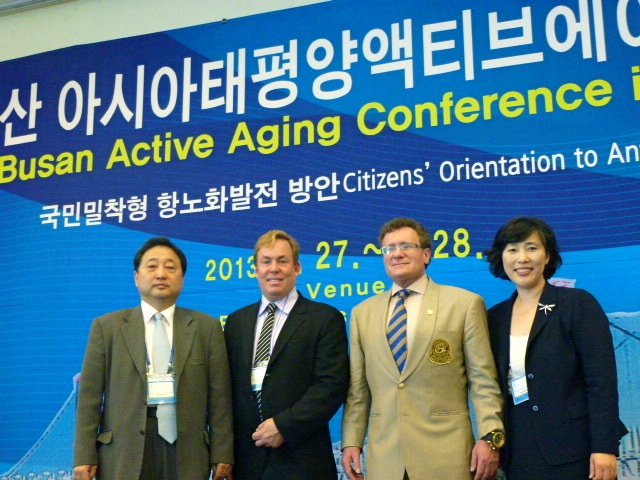 Dr James Stoxen DC, Dr Robert Goldman M.D., Ph,D., D.O., FAASP  and Dong Hee Han