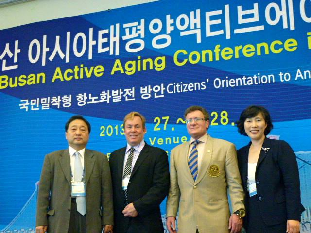 Dr Kim, Dr James Stoxen DC, Dr Bob Goldman and Dr Han in Busan, South Korea